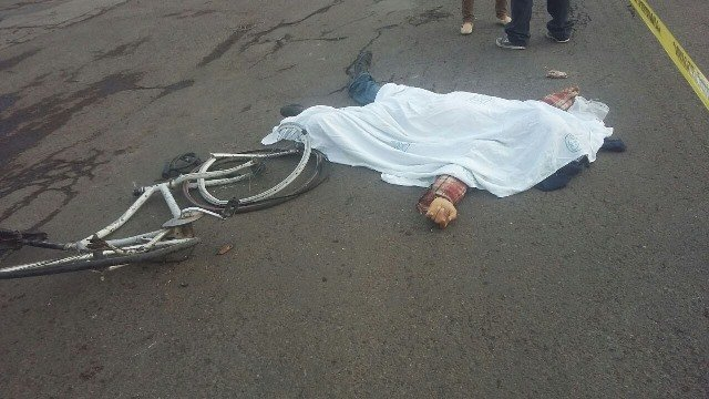 ¡Camión urbano atropella y mata a un ciclista en Aguascalientes!