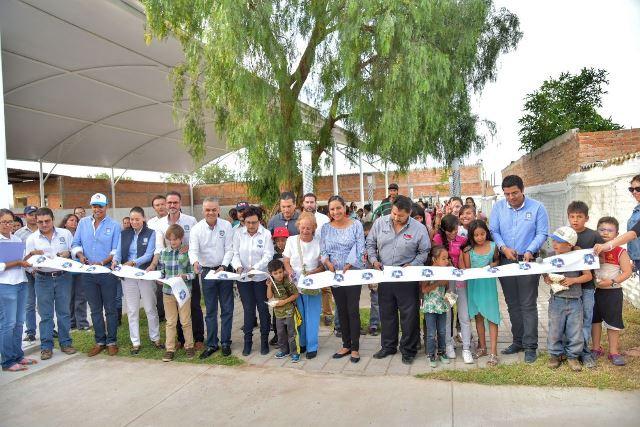 ¡Entrega Noel Mata nuevo parque municipal en Jesús María!