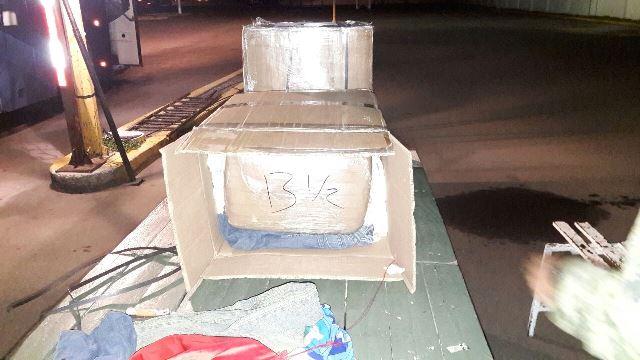 ¡Policías estatales y militares aseguraron 40 kilos de marihuana en un autobús en Aguascalientes!