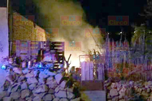 ¡Incendiaron una casa intencionalmente en Lagos de Moreno!