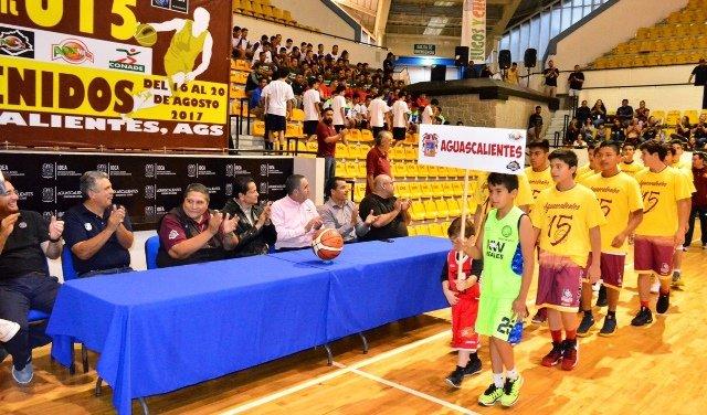 ¡Titular del IDEA inauguró nacional de baloncesto U15 varonil!