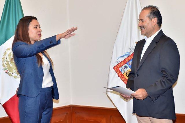 ¡Gobernador del Estado toma protesta a Ofelia Patricia Castillo Díaz como nueva titular de la PROESPA!