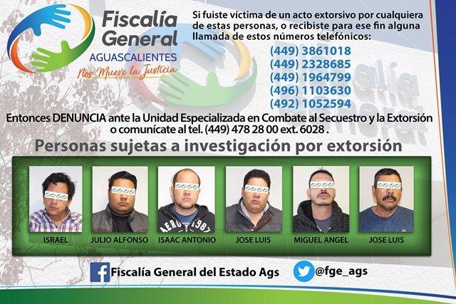 "¡Detuvieron a banda de 6 extorsionadores que cobraban ""derecho de piso"" en Aguascalientes!"