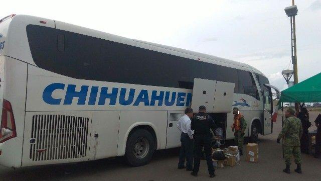 ¡Decomisaron cargamento de psicotrópicos en un autobús de pasajeros en Aguascalientes!