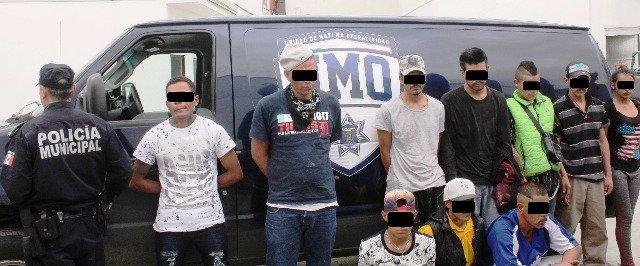 """¡Detuvieron a 10 miembros de las bandas """"Del Pepino"""" y """"Los Mascaritas"""" en Aguascalientes!"""