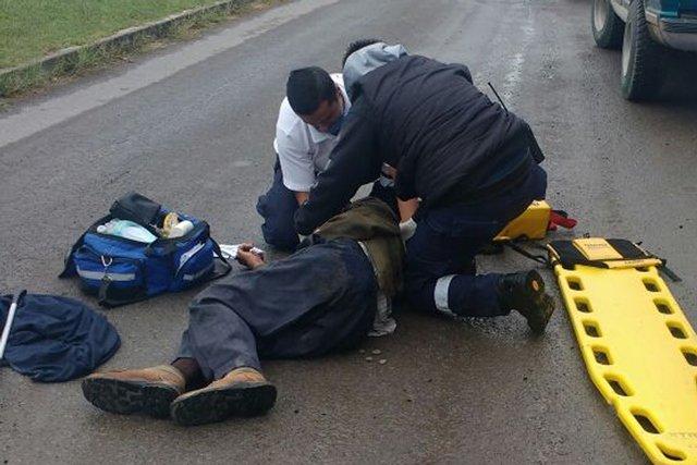 ¡Grave ancianito atropellado por una camioneta en Lagos de Moreno!