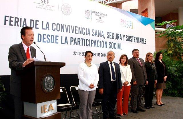 ¡IEA inaugura Feria de Convivencia Sana, Segura y Sustentable desde la Participación Social!