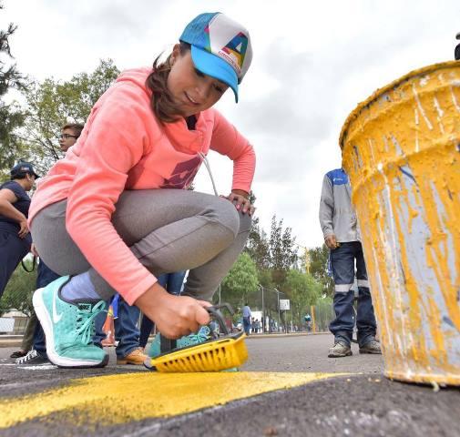 """¡Tere Jiménez encabezó el programa """"Todos Juntos Limpiemos Aguascalientes"""" en Santa Anita!"""