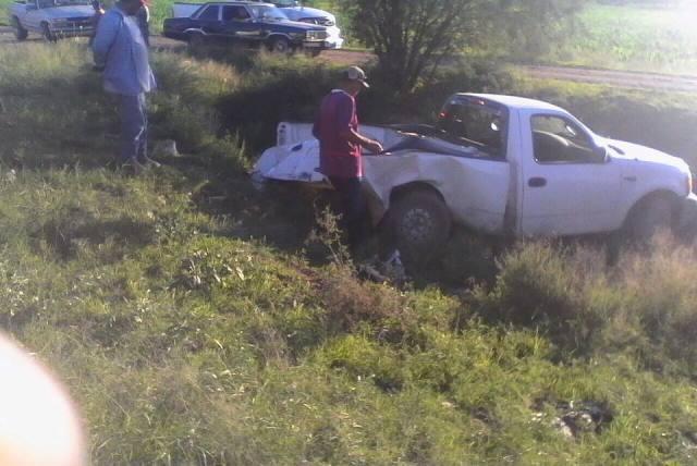 ¡Lesionado chofer de camioneta que fue embestido por el tren en Aguascalientes!