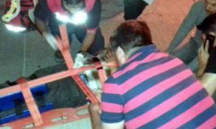¡Motociclista lesionado tras caer en una zanja en Lagos de Moreno!