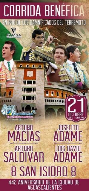 ¡Gran Corrida Benéfica en Aguascalientes!