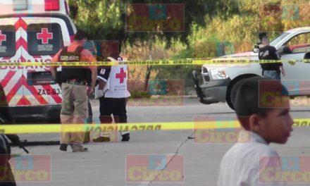 ¡En la colonia Francisco Villa de Fresnillo ejecutaron a tiros a un hombre!