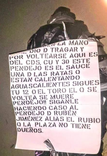 ¡Identificaron el ejecutado-embolsado que hallaron en Aguascalientes!
