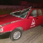 ¡Taxi embistió un caballo en Aguascalientes y el pasajero murió!