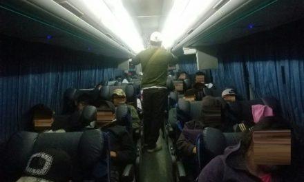 ¡Interceptaron a 42 indocumentados en un autobús de pasajeros en Aguascalientes!