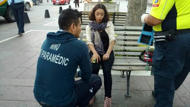 ¡Joven estudiante lesionada atropellada por un automóvil en Aguascalientes!