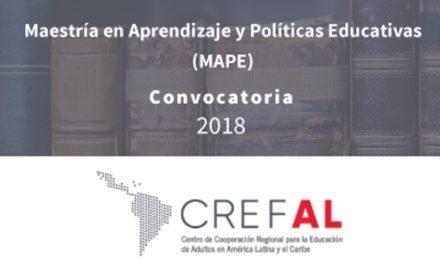 ¡IEA convoca a cursar la maestría en aprendizaje y políticas educativas impartida por CREFAL!