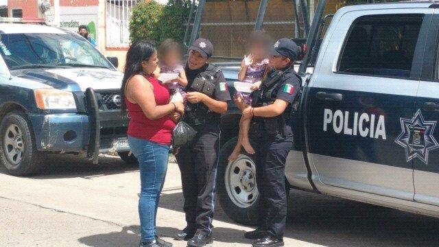 ¡Policías municipales localizaron a 3 niñas y 1 niño extraviados en Aguascalientes!