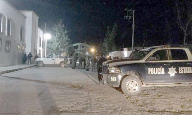 ¡Atacaron la Comandancia de Policía de Cañitas, Zacatecas: 1 oficial muerto y 3 lesionados!