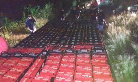 ¡Tráiler cargado con baterías fue robado en Zacatecas y recuperado en Aguascalientes!