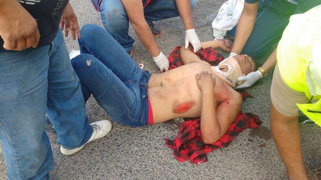 ¡Adolescente lesionado tras un accidente de motocicleta en Lagos de Moreno!