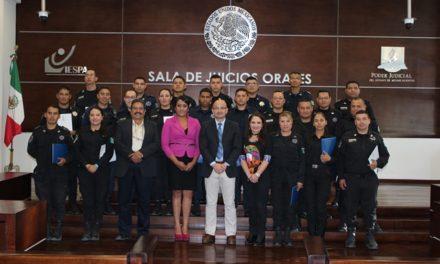 ¡Terminó capacitación para Policía Procesal en Aguascalientes!