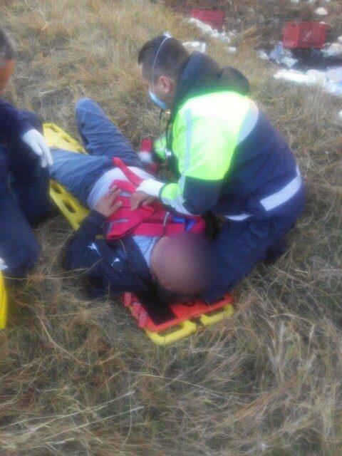 ¡Repartidor de lácteos se salvó de morir embestido por el tren en Aguascalientes!