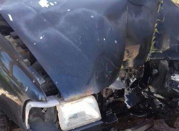 ¡Sexagenario lesionado tras estrellar su camioneta contra un puente peatonal en Aguascalientes!
