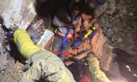 ¡4 adolescentes lesionados tras un derrumbe en una finca abandonada en Fresnillo!