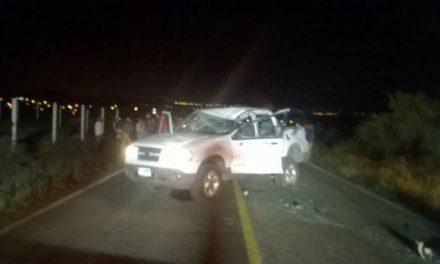¡Joven se mató tras volcar su camioneta en Aguascalientes!