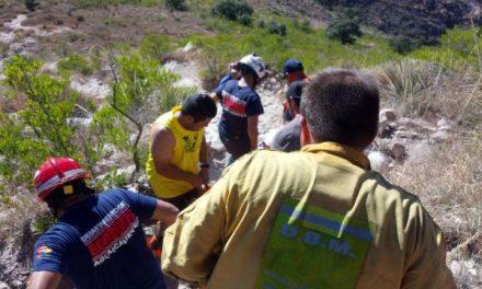 ¡Rescataron a un joven lesionado en el Cerro del Picacho en Aguascalientes!