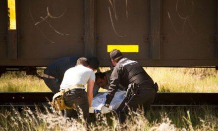 ¡Hombre se quitó la vida acostándose en las vías del tren y fue decapitado en Aguascalientes!