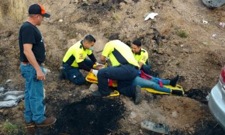 ¡Otro accidente en el Libramiento a Calvillo y la carretera 70 Poniente dejó 3 lesionados en Aguascalientes!