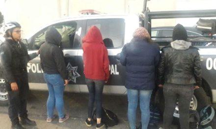 ¡Capturaron a 4 mujeres con dosis de marihuana en la Zona Centro de Aguascalientes!