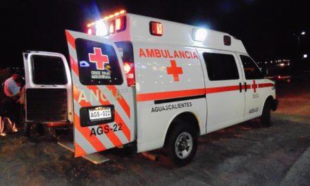 ¡5 zacatecanos resultaron lesionados tras un aparatoso accidente en Aguascalientes!