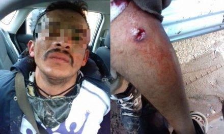 ¡Asaltante es baleado por policías luego de asaltar junto con otro sujeto a un repartidor de gas!