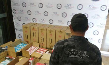 ¡Agentes federales aseguraron 120 mil cigarros de contrabando en Lagos de Moreno!