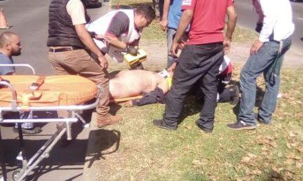 ¡Agoniza hombre atropellado por un automóvil en Aguascalientes!