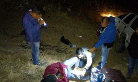 ¡4 militares que viajaban a Zacatecas casi se matan tras una volcadura en Aguascalientes!
