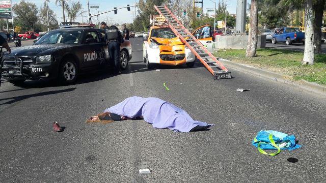 ¡Una mujer murió atropellada por un automóvil en Aguascalientes!