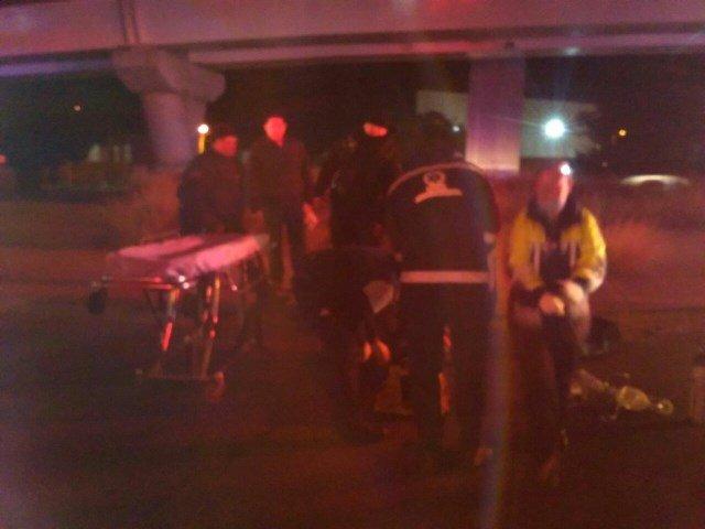 ¡Hombre murió tras accidente de automóvil y caer de un puente vehicular en Aguascalientes!