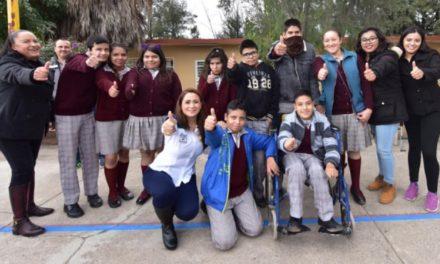 """¡Llegó el programa """"Yo pinto mi escuela con el corazón"""" a la Telesecundaria Enrique C. Rébsamen y al Telebachillerato comunitario de Trojes de Alonso!"""