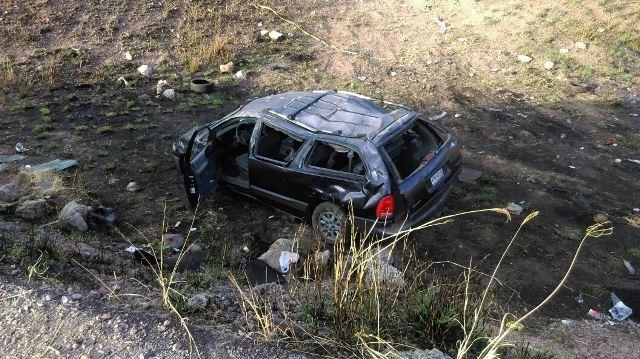 ¡6 lesionados dejó enésima volcadura en el Libramiento a Calvillo y la carretera 70 Poniente en Aguascalientes!