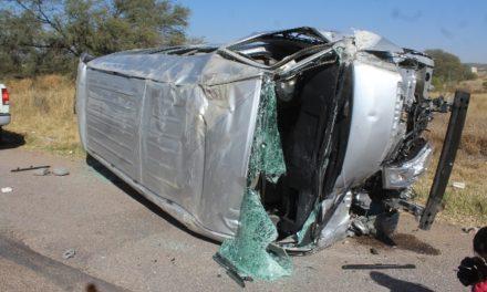 GALERIA/16 LESIONADOS TRAS DOBLE ACCIDENTE EN LA 45 SUR EN AGUASCALIENTES