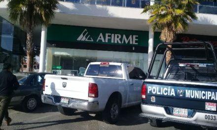 ¡Con un recado intimidatorio, un sujeto consumó el primer asalto bancario del año en Aguascalientes!
