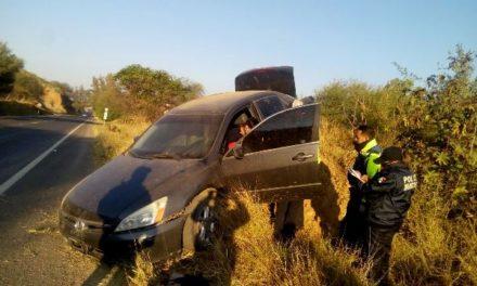 ¡Joven lesionado tras accidente automovilístico en Calvillo, Aguascalientes!
