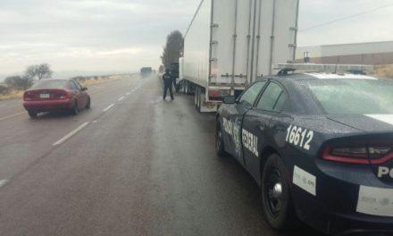 ¡Policías federales detuvieron a trailero que traficaba psicotrópicos en Aguascalientes!