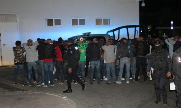 Policía Municipal de Aguascalientes  registró mil 543 detenciones en la última semana