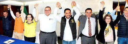 """¡PAN-PRD-MC presentan convenio de coalición """"Por Aguascalientes al Frente""""!"""