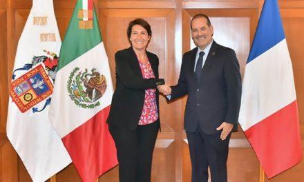 ¡Reconoce la Embajadora de Francia en México el clima de seguridad y paz social en el Estado!